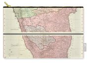 1800 Faden Rennell Wall Map Of India Carry-all Pouch