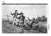 1800s Three 19th Century Men In Boat Carry-all Pouch
