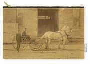 1800's Vintage Photo Of Horse Drawn Carriage Carry-all Pouch