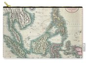 1801 Cary Map Of The East Indies And Southeast Asia  Singapore Borneo Sumatra Java Philippines Carry-all Pouch