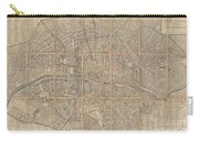 1802 Chez Jean Map Of Paris In 12 Municipalities France Carry-all Pouch