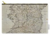 1804 Jeffreys And Kitchin Map Of Ireland Carry-all Pouch