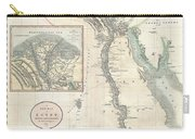 1805 Cary Map Of Egypt Carry-all Pouch