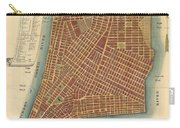 1807 Bridges Map Of New York City Carry-all Pouch