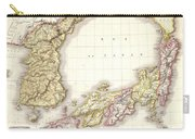 1809 Pinkerton Map Of Korea And Japan Carry-all Pouch