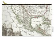 1810 Tardieu Map Of Mexico Texas And California Carry-all Pouch