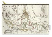 1810 Tardieu Map Of The East Indies Singapore Southeast Asia Sumatra Borneo Java Carry-all Pouch