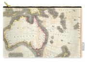 1814 Thomson Map Of Australia New Zealand And New Guinea Carry-all Pouch