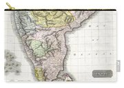 1814 Thomson Map Of India Carry-all Pouch