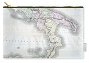 1814 Thomson Map Of Southern Italy Carry-all Pouch