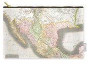 1814 Thomson Map Of Texas Mexico  Louisiana Carry-all Pouch