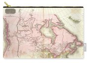 1818 Pinkerton Map Of British North America Or Canada Carry-all Pouch