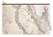 1818 Pinkerton Map Of Egypt Carry-all Pouch