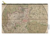 1820 Mogg Pocket Or Case Map Of London Carry-all Pouch