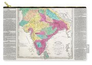 1821 Carey Map Of India  Carry-all Pouch