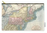 1821 Cary Map Of New England New York Pennsylvania And Virginia Carry-all Pouch