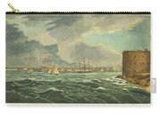 1825 Wall And Hill View Of New York City From The Hudson River Port Folio Carry-all Pouch