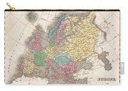 1827 Finley Map Of Europe Carry-all Pouch