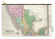 1827 Finley Map Of Mexico Upper California And Texas Carry-all Pouch