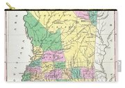 1827 Finley Map Of Mississippi Carry-all Pouch