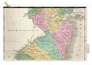 1827 Finley Map Of New Jersey  Carry-all Pouch