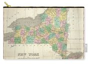 1827 Finley Map Of New York State Carry-all Pouch
