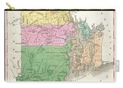 1827 Finley Map Of Rhode Island Carry-all Pouch
