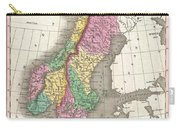 1827 Finley Map Of Scandinavia Norway Sweden Denmark Carry-all Pouch