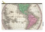 1827 Finley Map Of The Western Hemisphere Carry-all Pouch