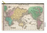 1827 Finley Map Of The World Carry-all Pouch