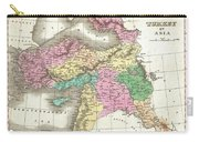 1827 Finley Map Of Turkey In Asia Iraq And Israel Carry-all Pouch