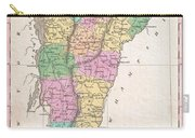 1827 Finley Map Of Vermont Carry-all Pouch