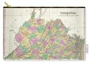 1827 Finley Map Of Virginia Carry-all Pouch
