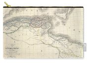 1829 Lapie Historical Map Of The Barbary Coast In Ancient Roman Times Carry-all Pouch