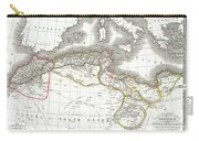 1829 Lapie Map Of The Eastern Mediterranean Morocco And The Barbary Coast Carry-all Pouch