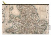 1830 Pigot Pocket Map Of England And Wales Carry-all Pouch