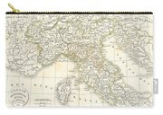 1832 Delamarche Map Of Northern Italy And Corsica Carry-all Pouch