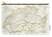 1832 Delamarche Map Of Switzerland Carry-all Pouch