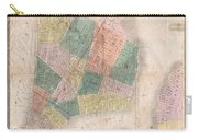 1835 David Burr Map Of New York City Carry-all Pouch