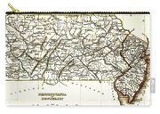 1835 Pennsylvania And New Jersey Map Carry-all Pouch