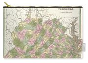 1838 Bradford Map Of Virginia Carry-all Pouch