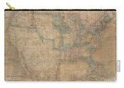 1839 Burr Wall Map Of The United States  Carry-all Pouch