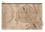1840 Manuscript Map Of The Collect Pond And Five Points New York City Carry-all Pouch