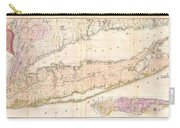 1842 Mather Map Of Long Island New York Carry-all Pouch by Paul Fearn