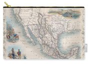 1851 Tallis Map Of Mexico Texas And California  Carry-all Pouch