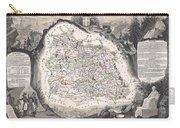 1852 Levasseur Map Of The Department Du Puy De Dome France Carry-all Pouch