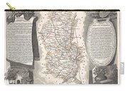 1852 Levasseur Map Of The Department Du Rhone France  Beaujolais Wine Region Carry-all Pouch