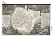 1852 Levasseur Map Of The Department L'ain France Bugey Wine Region Carry-all Pouch