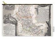 1852 Levasseur Mpa Of The Department De La Loire France Loire Valley Region Carry-all Pouch