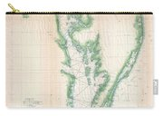 1852 Us. Coast Survey Chart Or Map Of The Chesapeake Bay And Delaware Bay Carry-all Pouch
